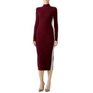 Susana Monaco Midi Sweater Dress M Side Stripe